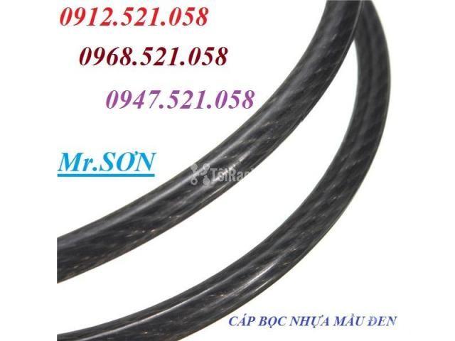 Cáp inox 304 bọc nhựa 10 mm (0968.521.058) Bán cáp bọc nhựa đen 10 ly. - 4/6
