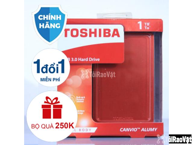 Ổ cứng di động Toshiba Canvio Alumy 1TB - red 1.349.000₫ - 3/4
