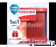 Ổ cứng di động Toshiba Canvio Alumy 1TB - red 1.349.000₫ - Hình ảnh 3/4