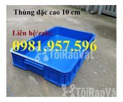 Thùng nhựa đặc Hs025, sóng nhựa bit, thùng nhựa đặc cao 10 cm, thùng n - Hình ảnh 1/3