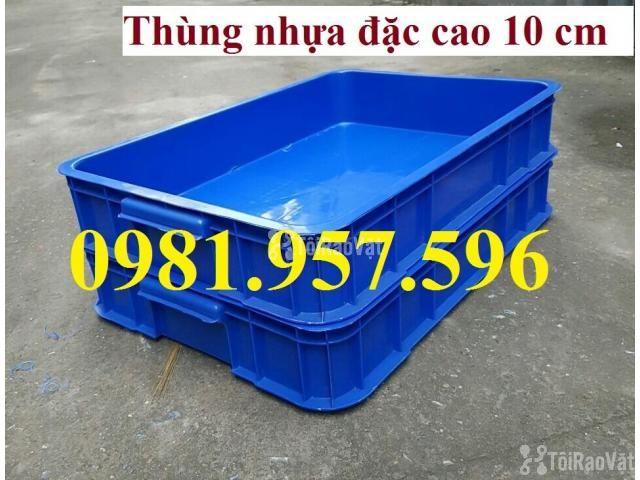 Thùng nhựa đặc Hs025, sóng nhựa bit, thùng nhựa đặc cao 10 cm, thùng n - 2/3