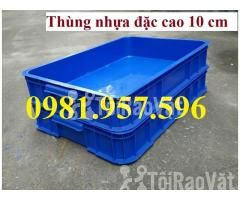 Thùng nhựa đặc Hs025, sóng nhựa bit, thùng nhựa đặc cao 10 cm, thùng n - Hình ảnh 2/3