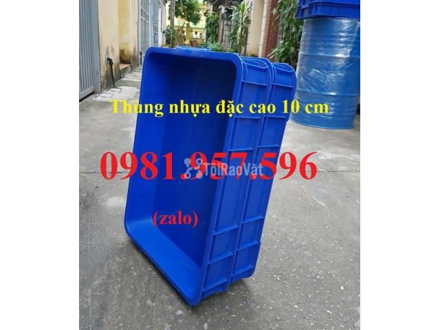 Thùng nhựa đặc Hs025, sóng nhựa bit, thùng nhựa đặc cao 10 cm, thùng n - 3/3