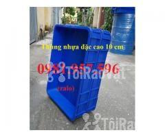 Thùng nhựa đặc Hs025, sóng nhựa bit, thùng nhựa đặc cao 10 cm, thùng n - Hình ảnh 3/3