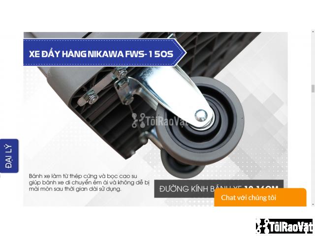 Xe đẩy hàng sàn nhựa Nikawa FWS-150S có gì nổi bật - 2/5