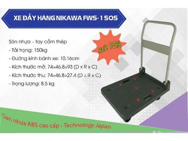 Xe đẩy hàng sàn nhựa Nikawa FWS-150S có gì nổi bật - 4/5
