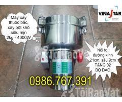 Máy nghiền bột mịn, máy xay thuốc bắc 2kg giá rẻ nhất - Hình ảnh 1/5