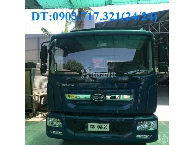 Xe tải Veam 9t3 thùng dài 7m6 mới 2019 thùng 7 bửng. Xe tải Veam VPT95 - 3/6