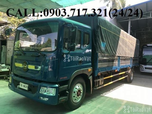 Xe tải Veam 9t3 (Veam VPT950). Gía xe tải Veam 9T3 - 9300kg thùng 7m6 - 1/6