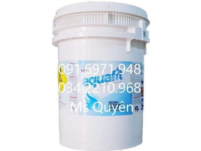 Chlorine aquafit 70% thùng cao hàng Ấn Độ khử trùng ao nuôi chính hãng - 1/1