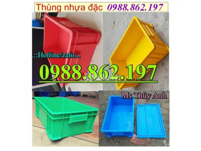 Thùng nhựa B4 giá rẻ, thùng nhựa đặc B4, Thùng chứa B4, thùng nhựa b4, - 1/6