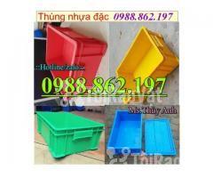 Thùng nhựa B4 giá rẻ, thùng nhựa đặc B4, Thùng chứa B4, thùng nhựa b4, - Hình ảnh 1/6