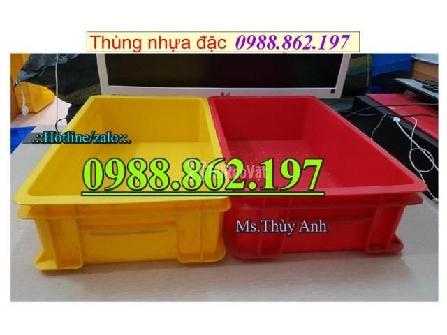 Thùng nhựa B4 giá rẻ, thùng nhựa đặc B4, Thùng chứa B4, thùng nhựa b4, - 4/6