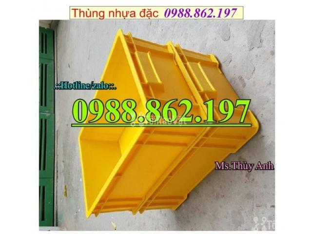 Thùng nhựa B4 giá rẻ, thùng nhựa đặc B4, Thùng chứa B4, thùng nhựa b4, - 5/6