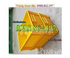 Thùng nhựa B4 giá rẻ, thùng nhựa đặc B4, Thùng chứa B4, thùng nhựa b4, - Hình ảnh 5/6