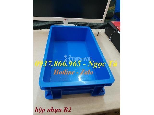 Thùng đựng B2 dụng cụ phụ tùng kèm nắp, thùng nhựa giá tốt nhất Hà Nội - 1/3