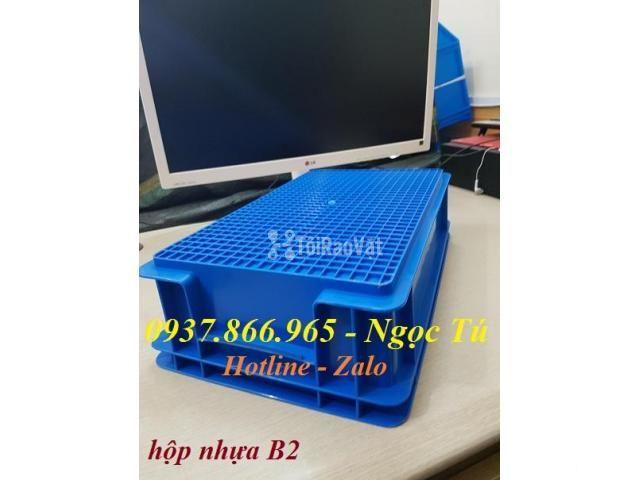 Thùng đựng B2 dụng cụ phụ tùng kèm nắp, thùng nhựa giá tốt nhất Hà Nội - 2/3