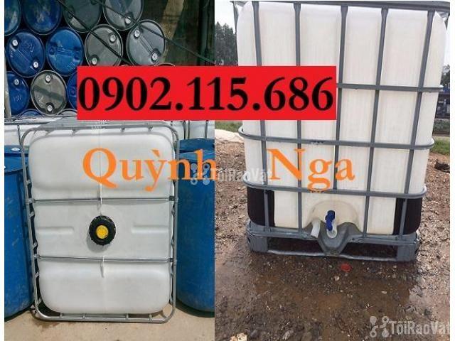 Sỉ lẻ thùng nhựa 1000L (Tank nhựa IBC) cũ và mới giá rẻ - 1/3