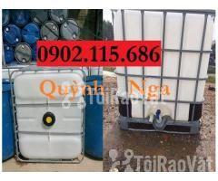 Sỉ lẻ thùng nhựa 1000L (Tank nhựa IBC) cũ và mới giá rẻ - Hình ảnh 1/3