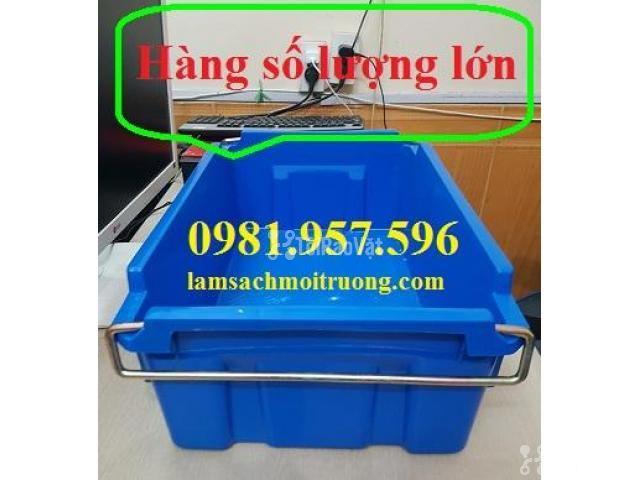 Thùng A2, thùng nhựa quai sắt, thùng đựng linh kiện, khay phụ tùng - 2/3