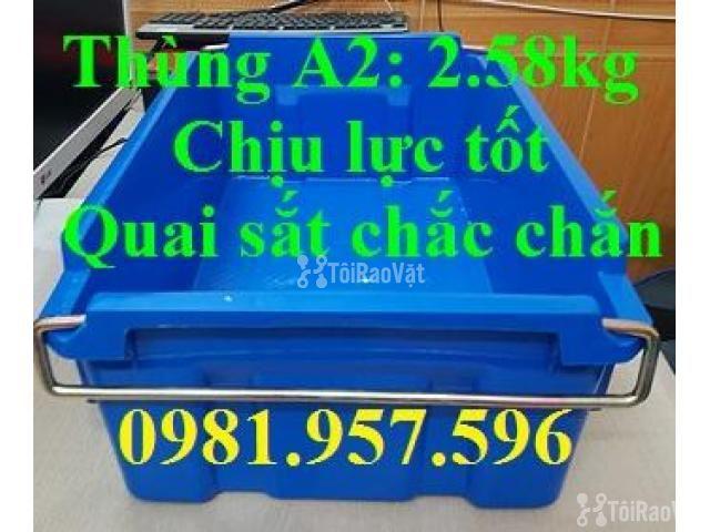 Thùng A2, thùng nhựa quai sắt, thùng đựng linh kiện, khay phụ tùng - 3/3