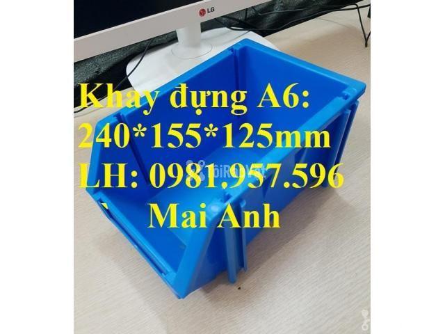 Khay A6, khay dụng cụ, kệ dụng cụ, khay linh kiện xếp chồng, khay  - 1/3