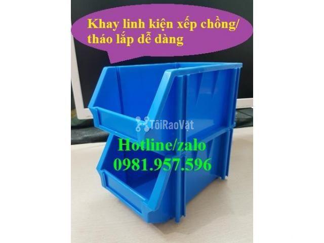 Khay A6, khay dụng cụ, kệ dụng cụ, khay linh kiện xếp chồng, khay  - 2/3