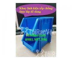 Khay A6, khay dụng cụ, kệ dụng cụ, khay linh kiện xếp chồng, khay  - Hình ảnh 2/3
