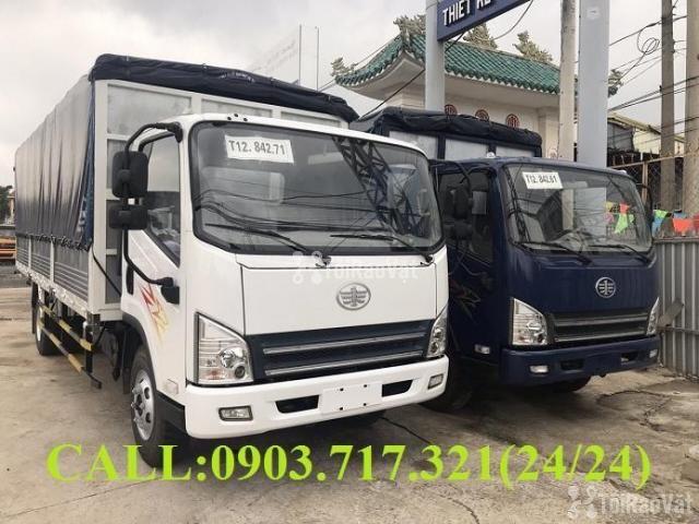 Xe tải Faw 7T3 - 7.3Tấn ga cơ máy Hyundai D4DB thùng dài 6m3 mở 7 bửng - 1/6