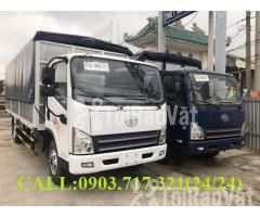 Xe tải Faw 7T3 - 7.3Tấn ga cơ máy Hyundai D4DB thùng dài 6m3 mở 7 bửng - Hình ảnh 1/6