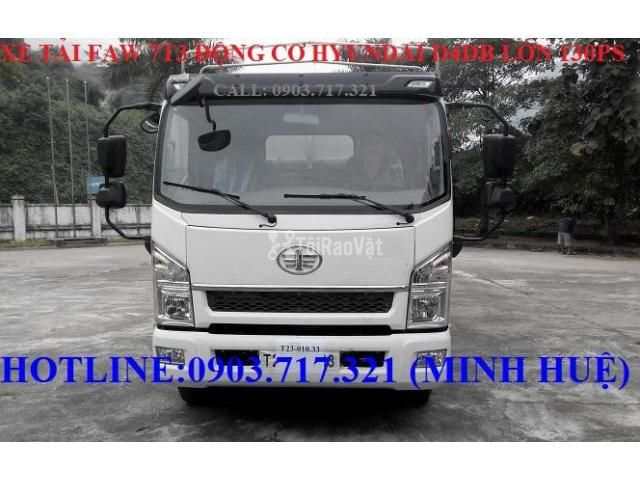 Xe tải Faw 7T3 - 7.3Tấn ga cơ máy Hyundai D4DB thùng dài 6m3 mở 7 bửng - 3/6