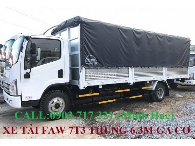 Xe tải Faw 7T3 - 7.3Tấn ga cơ máy Hyundai D4DB thùng dài 6m3 mở 7 bửng - 4/6