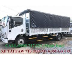 Xe tải Faw 7T3 - 7.3Tấn ga cơ máy Hyundai D4DB thùng dài 6m3 mở 7 bửng - Hình ảnh 4/6
