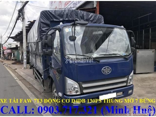 Xe tải Faw 7T3 - 7.3Tấn ga cơ máy Hyundai D4DB thùng dài 6m3 mở 7 bửng - 5/6