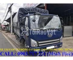 Xe tải Faw 7T3 - 7.3Tấn ga cơ máy Hyundai D4DB thùng dài 6m3 mở 7 bửng - Hình ảnh 5/6