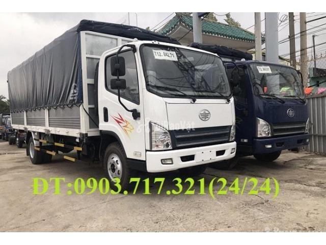 Xe tải Faw 7T3 - 7.3Tấn ga cơ máy Hyundai D4DB thùng dài 6m3 mở 7 bửng - 6/6