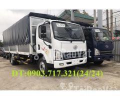 Xe tải Faw 7T3 - 7.3Tấn ga cơ máy Hyundai D4DB thùng dài 6m3 mở 7 bửng - Hình ảnh 6/6