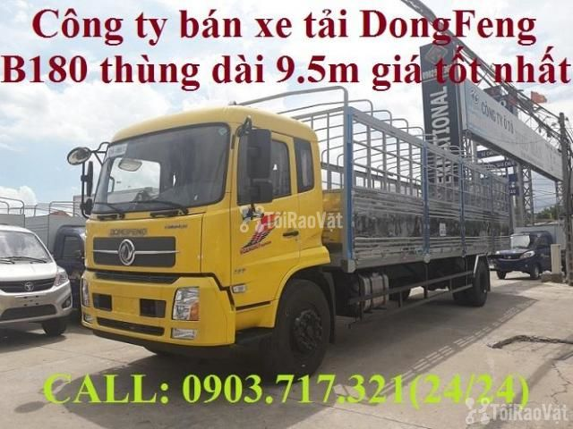 Xe tải DongFeng B180 thùng dài 9m5. Xe tải Dongfeng 8 tấn thùng dài 9m - 1/6