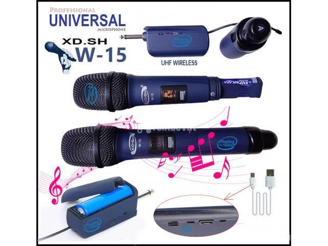Bộ 2 Micro Không Dây Universal XD. SH W-15 cho Loa kéo, Amply karaoke - 2/5