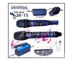 Bộ 2 Micro Không Dây Universal XD. SH W-15 cho Loa kéo, Amply karaoke - Hình ảnh 2/5