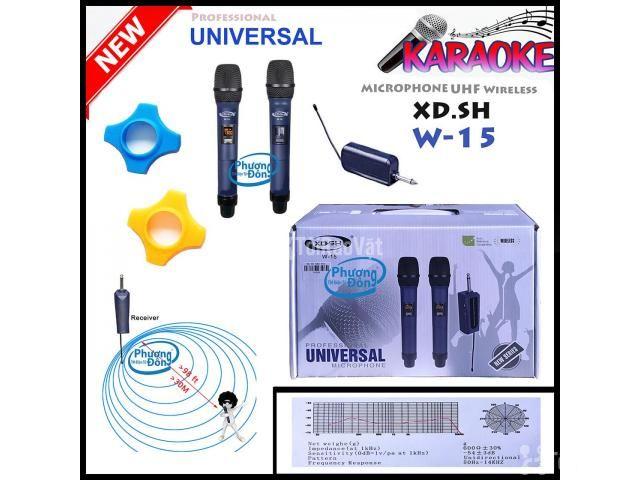 Bộ 2 Micro Không Dây Universal XD. SH W-15 cho Loa kéo, Amply karaoke - 3/5