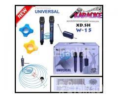 Bộ 2 Micro Không Dây Universal XD. SH W-15 cho Loa kéo, Amply karaoke - Hình ảnh 3/5