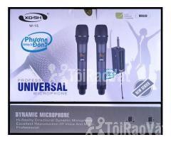 Bộ 2 Micro Không Dây Universal XD. SH W-15 cho Loa kéo, Amply karaoke - Hình ảnh 5/5