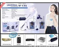 Bộ 2 Micro không dây Đeo tai và Cài áo Universal XD-SH W-15E UHF - Hình ảnh 1/6