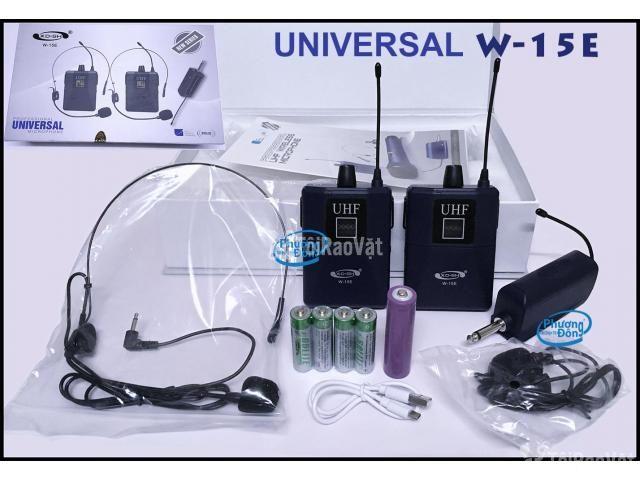 Bộ 2 Micro không dây Đeo tai và Cài áo Universal XD-SH W-15E UHF - 2/6