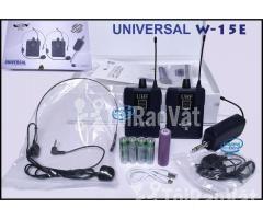 Bộ 2 Micro không dây Đeo tai và Cài áo Universal XD-SH W-15E UHF - Hình ảnh 2/6