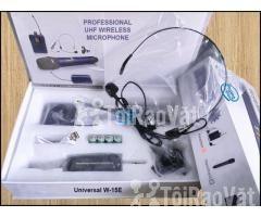 Bộ 2 Micro không dây Đeo tai và Cài áo Universal XD-SH W-15E UHF - Hình ảnh 3/6