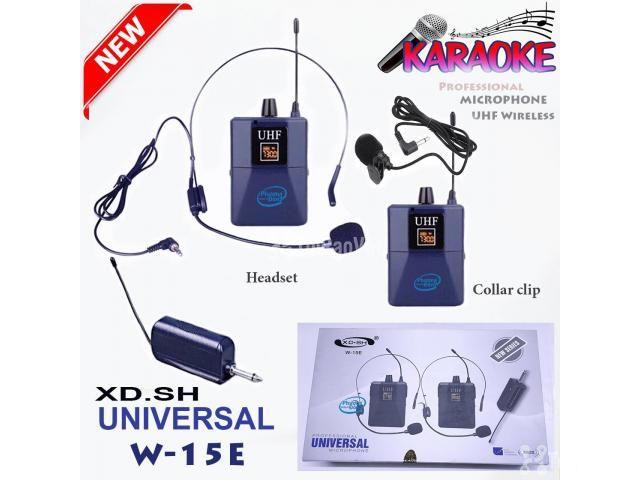 Bộ 2 Micro không dây Đeo tai và Cài áo Universal XD-SH W-15E UHF - 4/6
