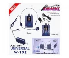 Bộ 2 Micro không dây Đeo tai và Cài áo Universal XD-SH W-15E UHF - Hình ảnh 4/6