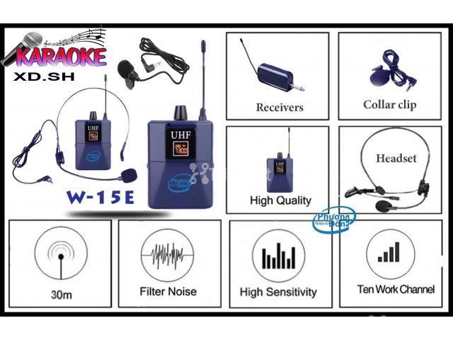 Bộ 2 Micro không dây Đeo tai và Cài áo Universal XD-SH W-15E UHF - 5/6